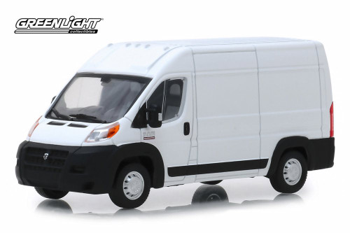 2018 Dodge Ram ProMaster 2500 Cargo Van High Roof, Bright White - Greenlight 86152 - 1/43 Scale Diecast Model Toy Car