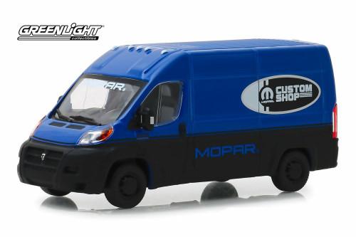 2018 Dodge Ram ProMaster 2500 Cargo Van High Roof MOPAR, Custom Shop - Greenlight 86155 - 1/43 Scale Diecast Model Toy Car