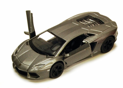 Lamborghini Aventador LP700-4, Gray - Kinsmart 5355D - 1/38 scale Diecast Model Toy Car