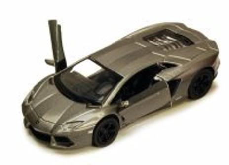 Lamborghini Aventador LP700-4, Gray - Kinsmart 5355D - 1/38 scale Diecast Model Toy Car