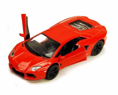 Lamborghini Aventador LP700-4, Orange - Kinsmart 5355D - 1/38 scale Diecast Model Toy Car