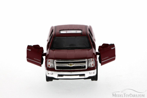 2014 Chevy Silverado Pick-up Truck, Red - Kinsmart 5381D - 1/46 Scale Diecast Model Toy Car (Brand New, but NOT IN BOX)