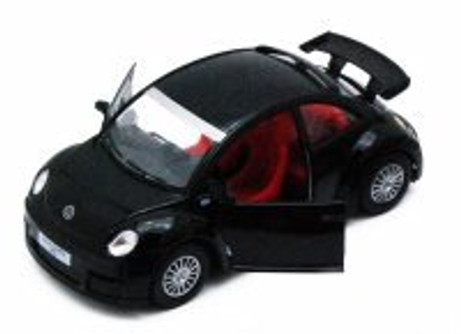 Volkswagen New Beetle Rsi, Black - Kinsmart 5058D - 1/32 scale Diecast Model Toy Car