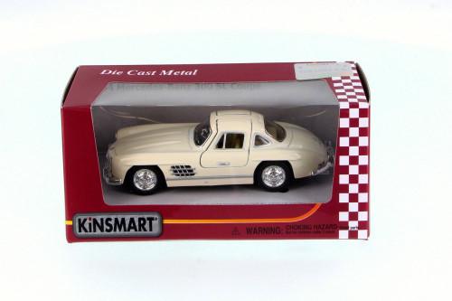 1954 Mercedes-Benz 300SL, Cream - Kinsmart 5346WC - 1/36 Scale Diecast Model Toy Car