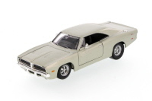 1969 Dodge Charger Hard Top, Silver - Showcasts 34256 - 1/24 Scale Diecast Model Toy Car