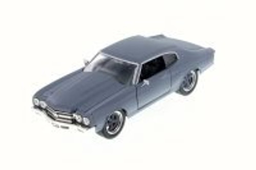 1970 Dom's Chevy Chevelle SS, Primer Gray - Jada 97308 - 1/24 Scale Diecast Model Toy Car (Brand New, but NOT IN BOX)