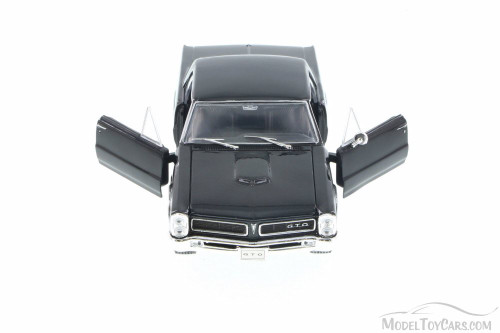 1965 Pontiac GTO, Black - Welly 22092 - 1/24 Scale Diecast Model Toy Car (Brand New, but NOT IN BOX)