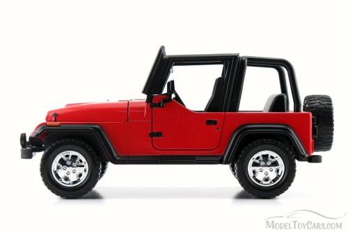 1992 Jeep Wrangler, Red - Jada 98081WA - 1/24 Scale Diecast Model Toy Car
