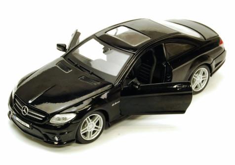 Mercedes-Benz CL63 AMG w/ Sunroof, Black - Maisto 34297 - 1/24 Scale Diecast Model Toy Car