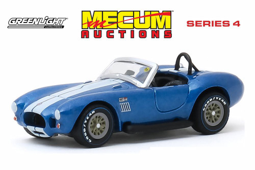 1967 Shelby 427 S/C Cobra Roadster, Blue - Greenlight 37190A/48 - 1/64 scale Diecast Model Toy Car