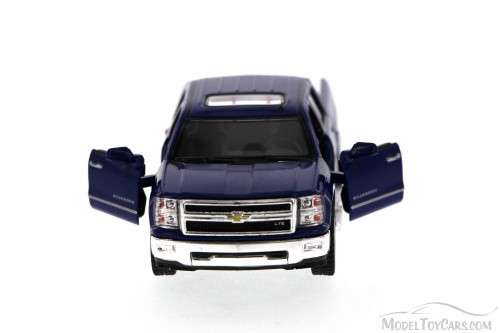 2014 Chevy Silverado Pick-up Truck, Blue - Kinsmart 5381D - 1/46 Scale Diecast Model Toy Car (Brand New, but NOT IN BOX)