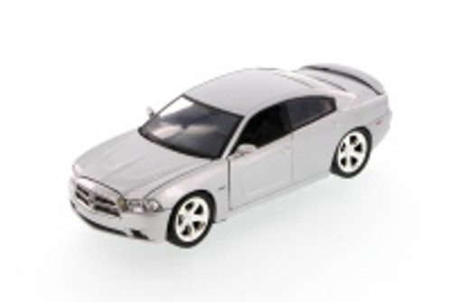 2011 Dodge Charger, Silver - Showcasts 73354 - 1/24 Scale Diecast Model Car (Brand New, but NOT IN BOX)