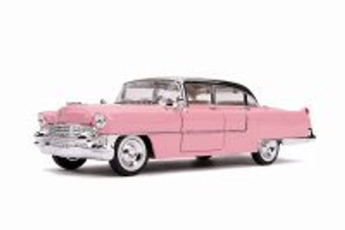 1955 Cadillac Fleetwood Series 60 Hardtop, Pink - Jada 30704 - 1/24 scale Diecast Model Toy Car