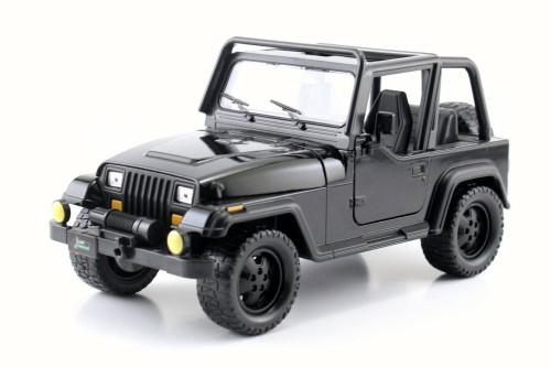 1992 Jeep Wrangler, Black - Jada 98081WA - 1/24 Scale Diecast Model Toy Car