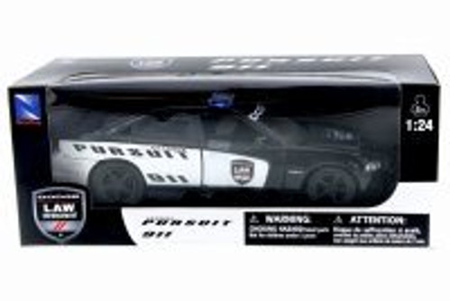 Dodge Charger, Black - New Ray 71903 - 1/24 Scale Diecast Model Toy Car