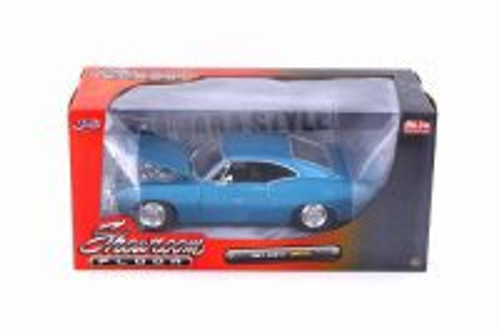 1967 Chevy Impala, Blue - Jada 98911-MJ - 1/24 Scale Diecast Model Toy Car