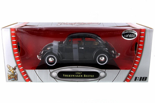 1967 Volkswagen Beetle (Limited Production), Jet Black - Road Signature 82078BK - 1/18 Scale Diecast Model Toy Car