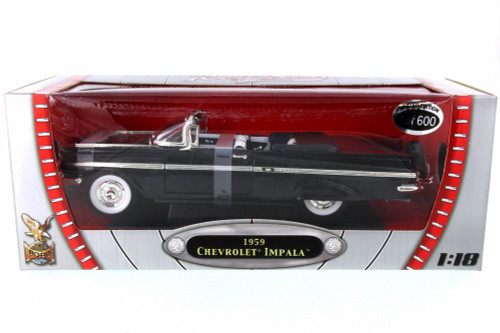 1959 Chevy Impala (Limited Production), Jet Black - Road Signature 82118BK - 1/18 Scale Diecast Model Toy Car