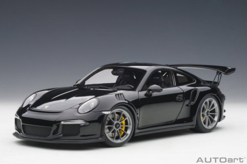 Porsche 911 (991) GT3 RS, Gloss Black - Auto Art 78164 - 1/18 Scale Diecast Model Toy Car