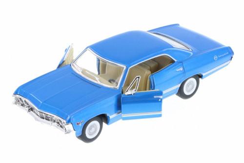 1967 Chevy Impala Hard Top, Blue - Kinsmart 5418D - 1/43 Scale Diecast Model Toy Car