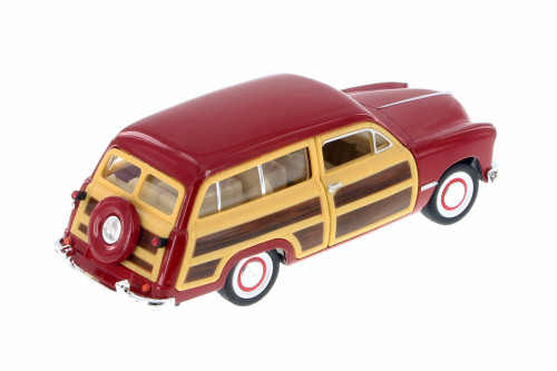 1949 Ford Woody Wagon, Red - Kinsmart 5402D - 1/40 Scale Diecast Model Toy Car