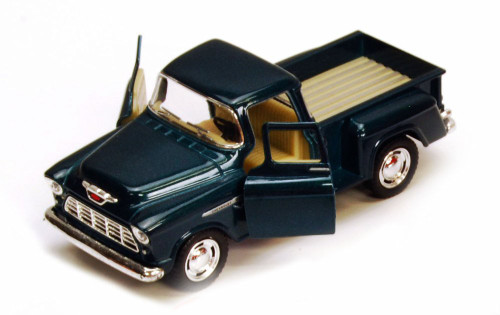 1955 Chevy Stepside Pickup Truck, Green - Kinsmart 5330/6D - 1/32 scale Diecast Model Toy Car (Brand New, but NOT IN BOX)