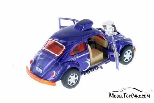 Volkswagen Beetle Custom Dragracer, Indigo Blue - Kinsmart 5405D - 1/32 Scale Diecast Model Toy Car