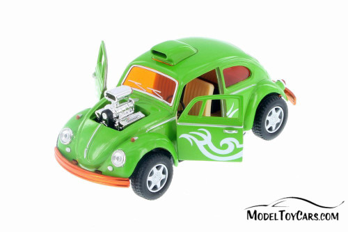 Volkswagen Beetle Custom Dragracer, Green - Kinsmart 5405D - 1/32 Scale Diecast Model Toy Car