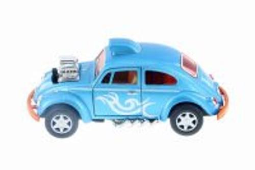 Volkswagen Beetle Custom Dragracer, Light Blue - Kinsmart 5405D - 1/32 Scale Diecast Model Toy Car