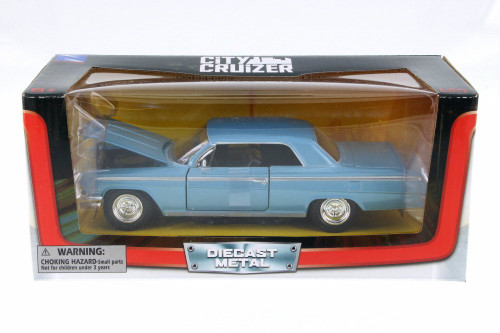 1962 Chevy Impala SS, Blue - New Ray SS-71843BL - 1/24 Scale Diecast Model Toy Car
