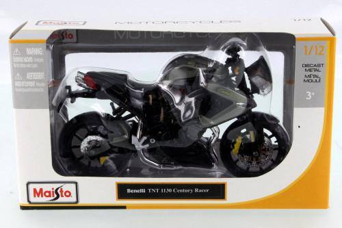 Benelli TNT 1130 Century Racer Motorcycle, Gray - Maisto 31179GRY - 1/12 Scale Vehicle Replica