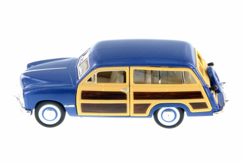 1949 Ford Woody Wagon, Royal Blue - Kinsmart 5402D - 1/40 Scale Diecast Model Toy Car