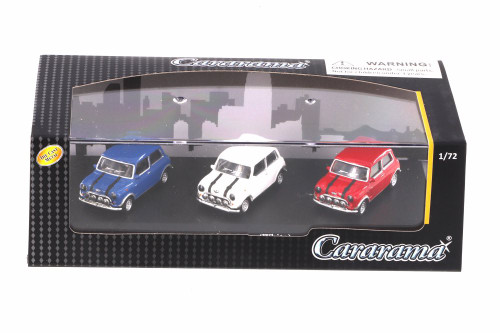 Mini Cooper 3-Car Set, Asstd - Cararama 71310M - 1/72 scale Diecast Model Toy Car