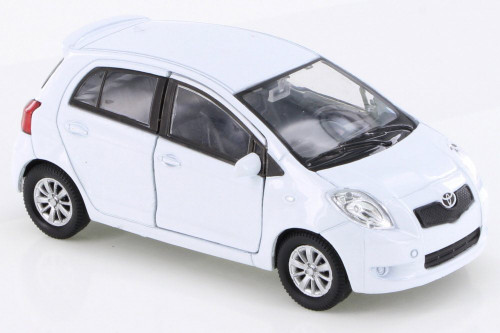 Toyota Yaris, White - Welly 42396D - Diecast Model Toy Car