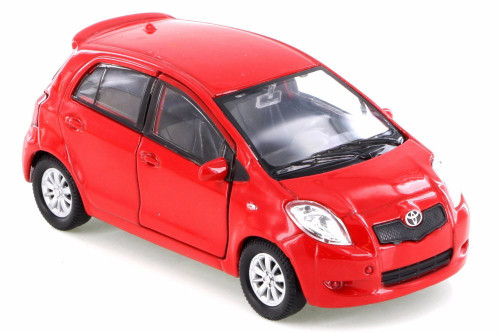 Toyota Yaris, Red - Welly 42396D - Diecast Model Toy Car