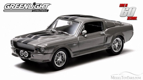 1967 Ford Mustang Eleanor from Gone in 60 Secondsmotion picture, Gray with Black Stripes - Greenlight 86411 - 1/43 Scale Diecast Model Toy Car