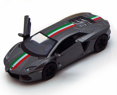 Lamborghini Aventador LP700-4 Hard Top, Black - Kinsmart 5355DF - 1/38 Scale Diecast Model Replica (Brand New, but NOT IN BOX)