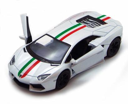 Lamborghini Aventador LP700-4 Hard Top, White - Kinsmart 5355DF - 1/38 Scale Diecast Model Replica (Brand New, but NOT IN BOX)