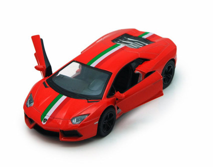 Lamborghini Aventador LP700-4 Hard Top, Red - Kinsmart 5355DF - 1/38 Scale Diecast Model Replica (Brand New, but NOT IN BOX)