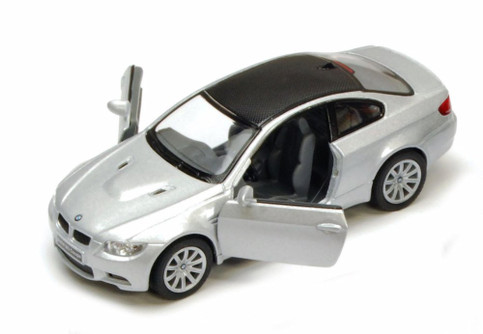 BMW M3 Coupe, Silver - Kinsmart 5348D - 1/36 scale Diecast Model Toy Car (Brand New, but NOT IN BOX)