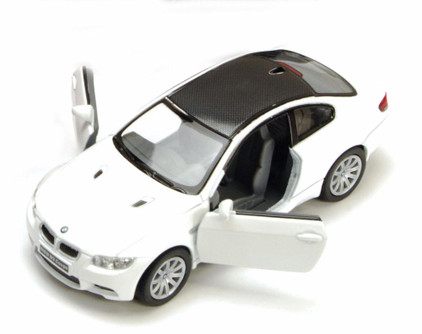 BMW M3 Coupe, White - Kinsmart 5348D - 1/36 scale Diecast Model Toy Car (Brand New, but NOT IN BOX)