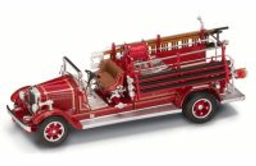 1932 Buffalo Type 50 Fire Engine Montville, NJ, Red - Yatming 43005 - 1/43 Scale Diecast Model Toy Car