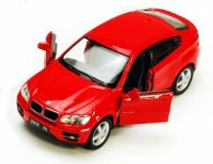BMW X6, Red - Kinsmart 5336D - 1/38 scale Diecast Model Toy Car (Brand New, but NOT IN BOX)
