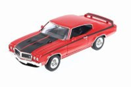 1970 Buick GSX, Red w/ Black - Welly 22433WR - 1/24 Scale Diecast Model Toy Car