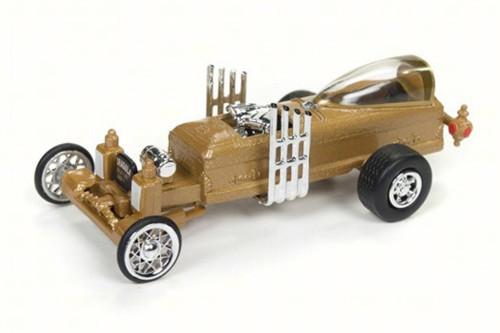 The Barris Drag-u-la, Gold - Round 2 JLSS003 - 1/64 Scale Diecast Model Toy Car