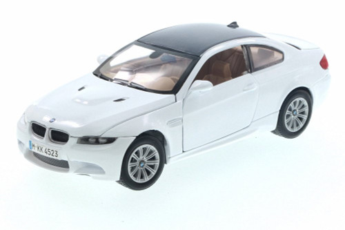 2008 BMW M3 Coupe, Cream White - Motor Max 73347/16D - 1/24 Scale Diecast Model Toy Car
