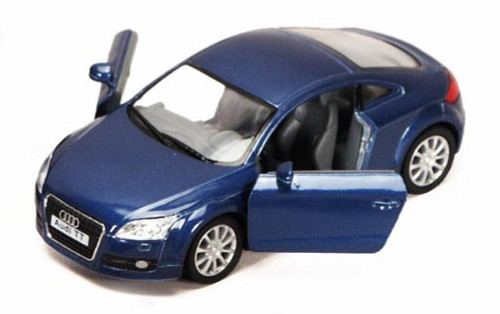 2008 Audi TT Coupe, Blue - Kinsmart 5335D - 1/32 scale Diecast Model Toy Car (Brand New, but NOT IN BOX)