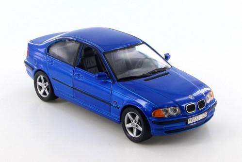 1998 BMW 328i, Metallic Blue  - Welly 9395-4D - 1/24 Scale Diecast Model Toy Car