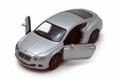 2012 Bentley Continental GT Speed, Silver - Kinsmart 5369D - 1/38 scale Diecast Model Toy Car (Brand New, but NOT IN BOX)