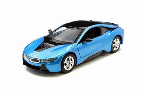 2018 BMW i8 Coupe Hardtop, Blue - Showcasts 79359BU - 1/24 Scale Diecast Model Toy Car